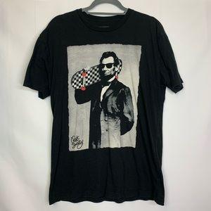 3/$25 Riot Society Abe Lincoln Skateboard T-Shirt